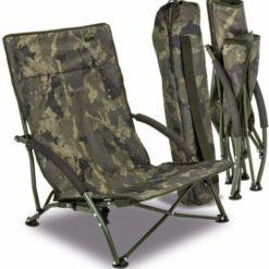 Solar Tackle Undercover Camo Foldable Easy Chair Low 7