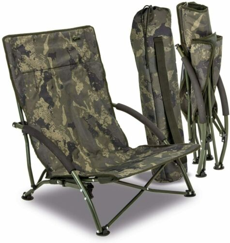 Solar Tackle Undercover Camo Foldable Easy Chair Low 4
