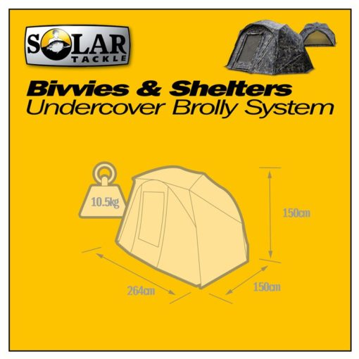 Solar Tackle Undercover Camo Brolly System 6