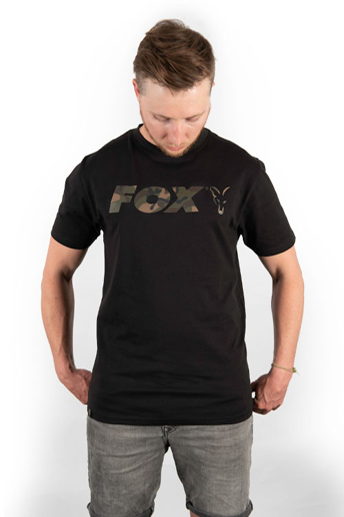 Fox Black/Camo Print T-Shirt 4