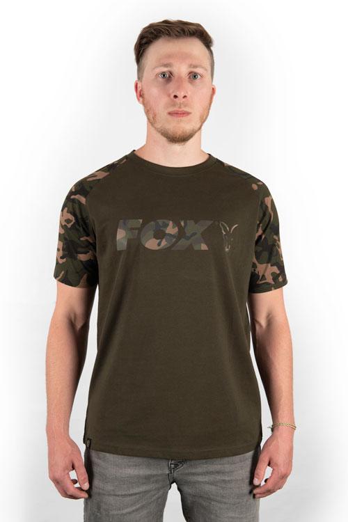 Fox Camo/Khaki Chest Print T-Shirt 4