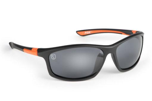 Fox Collection Black and Orange Frame/Grey Lens Sunglasses 3