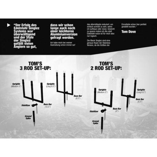 Korda Singlez Stage Stand Aluminium 4