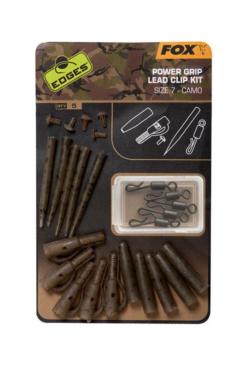 Fox EDGES Camo Power Grip Lead Clip Kit Size 7 3