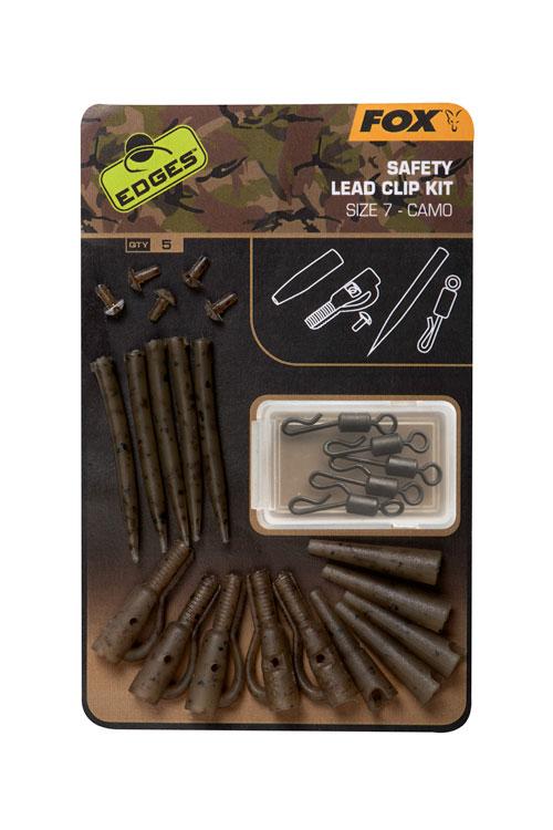 Fox EDGES Camo Safety Lead Clip Kit Size 7 3