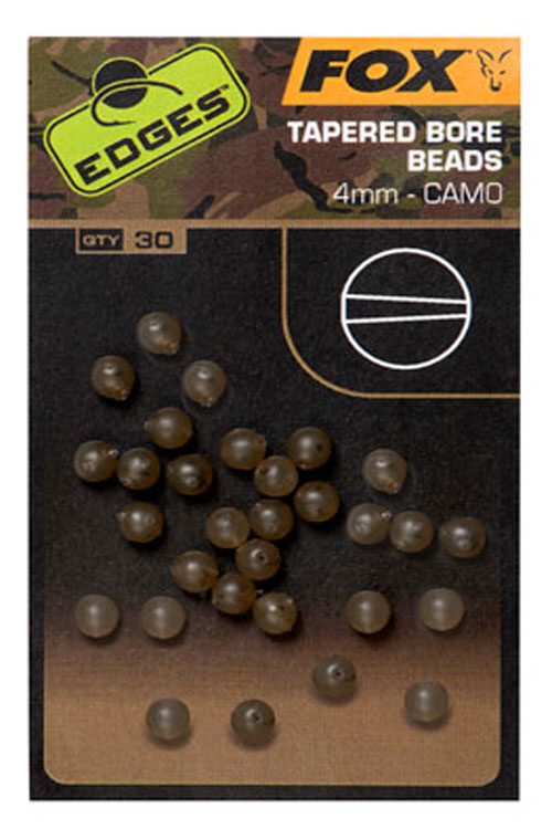 Fox EDGES Camo Tapered Bore Beads 4mm 3