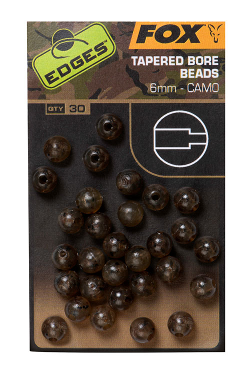 Fox EDGES Camo Tapered Bore Beads 6mm 3
