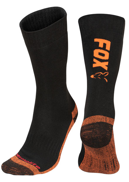 Fox Black / Orange Thermolite Long Sock 3