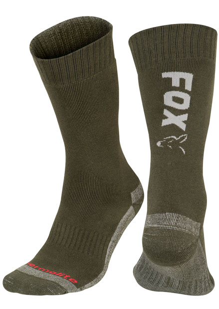 Fox Green / Silver Thermolite Long Sock 3