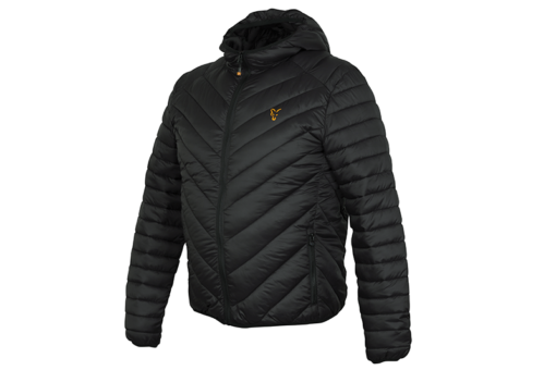 Fox Collection Black/Orange Quilted Jacket 3