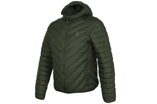 Fox Collection Green/Silver Quilted Jacket Jacke 3