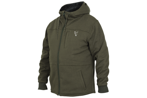 Fox Collection Green Silver Sherpa Hoody 3