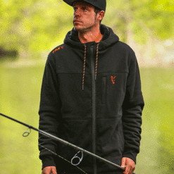 Fox Collection Black Orange Sherpa Hoody 9