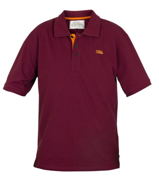 Fox Chunk Polo Shirt Burgundy Orange 3