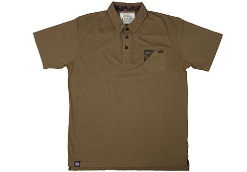 Fox Chunk Stonewashed Polo Poloshirt khaki 3