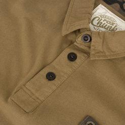 Fox Chunk Stonewashed Polo Poloshirt khaki 6