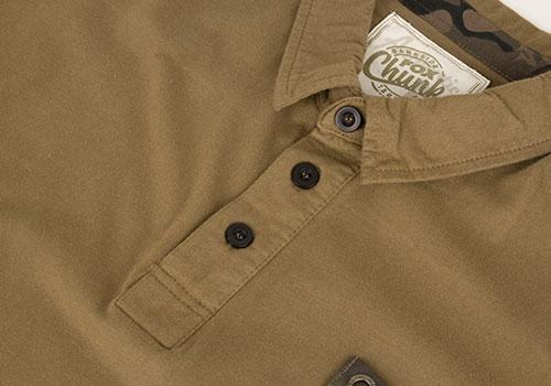 Fox Chunk Stonewashed Polo Poloshirt khaki 4