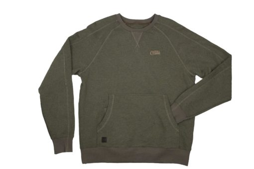 Fox Chunk Crew Pouch Sweatshirt Green Marl 3
