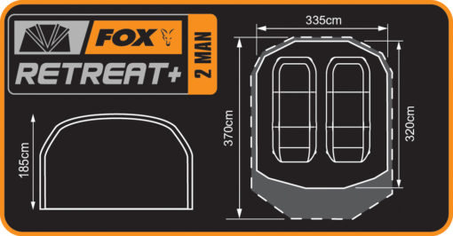 Fox Retreat+ 2 Man Dome Bivvy 8