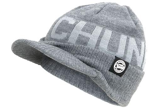 Fox Chunk Peaked Beanie Hat Grey Wollmütze 3